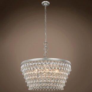 Crystal rain drop chandelier wayfair fontayne teardrop 6 light crystal chandelier aloadofball Gallery