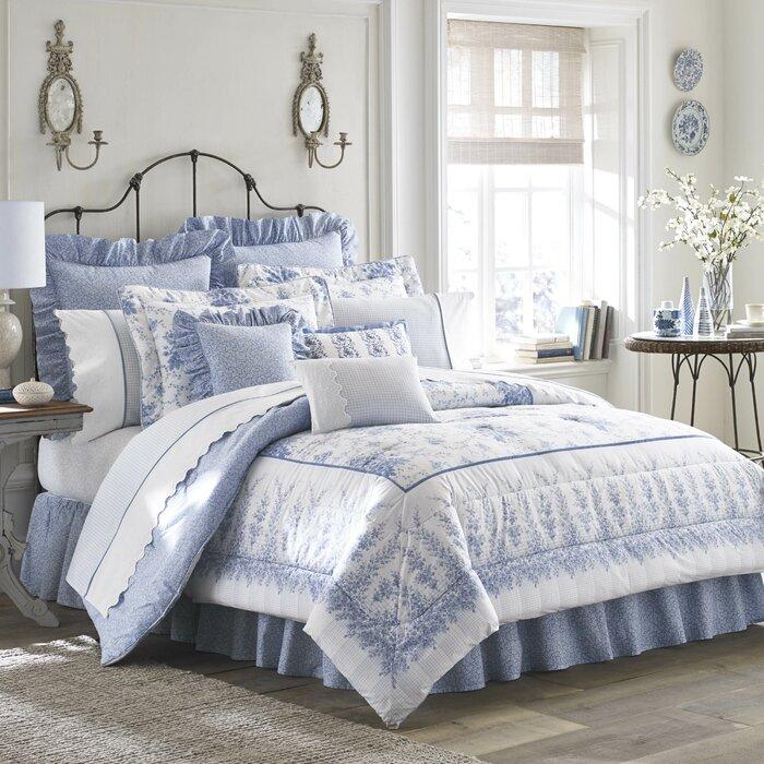 Sophia Cotton Comforter Set By Laura Ashley Home
