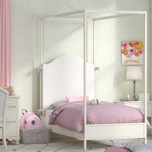 LC Kids Summerset Metal Canopy Bed