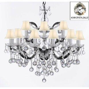Rosdorf Park Patel 18-Light Shaded Chandelier
