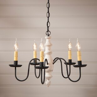 Purchase Vincent Wood 5-Light Chandelier By Gracie Oaks