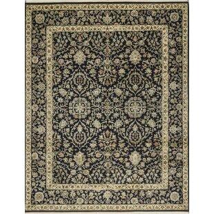 Affordable One-of-a-Kind Handwoven Wool Black/Beige Indoor Area Rug ByBokara Rug Co., Inc.