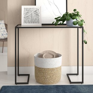 Royalston 38 Glass Top Console Table By Zipcode Design