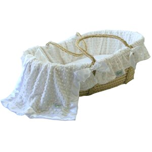 Minky Dot Moses Basket Bedding Set