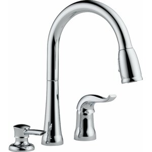 Kate Single Handle Kitchen Faucet with Soap Dispenser