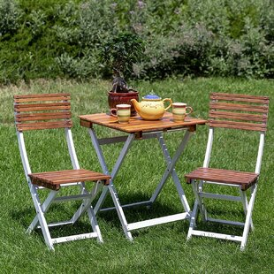 Halvorsen 3 Piece Bistro Set by Highland Dunes