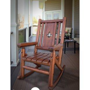 Albrecht Fleur de Lis Porch Rocking Chair by Millwood Pines