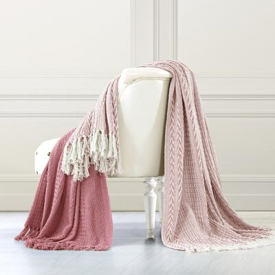 Gracie Oaks Avenida 2 Piece Cotton Throw Set & Reviews | Wayfair