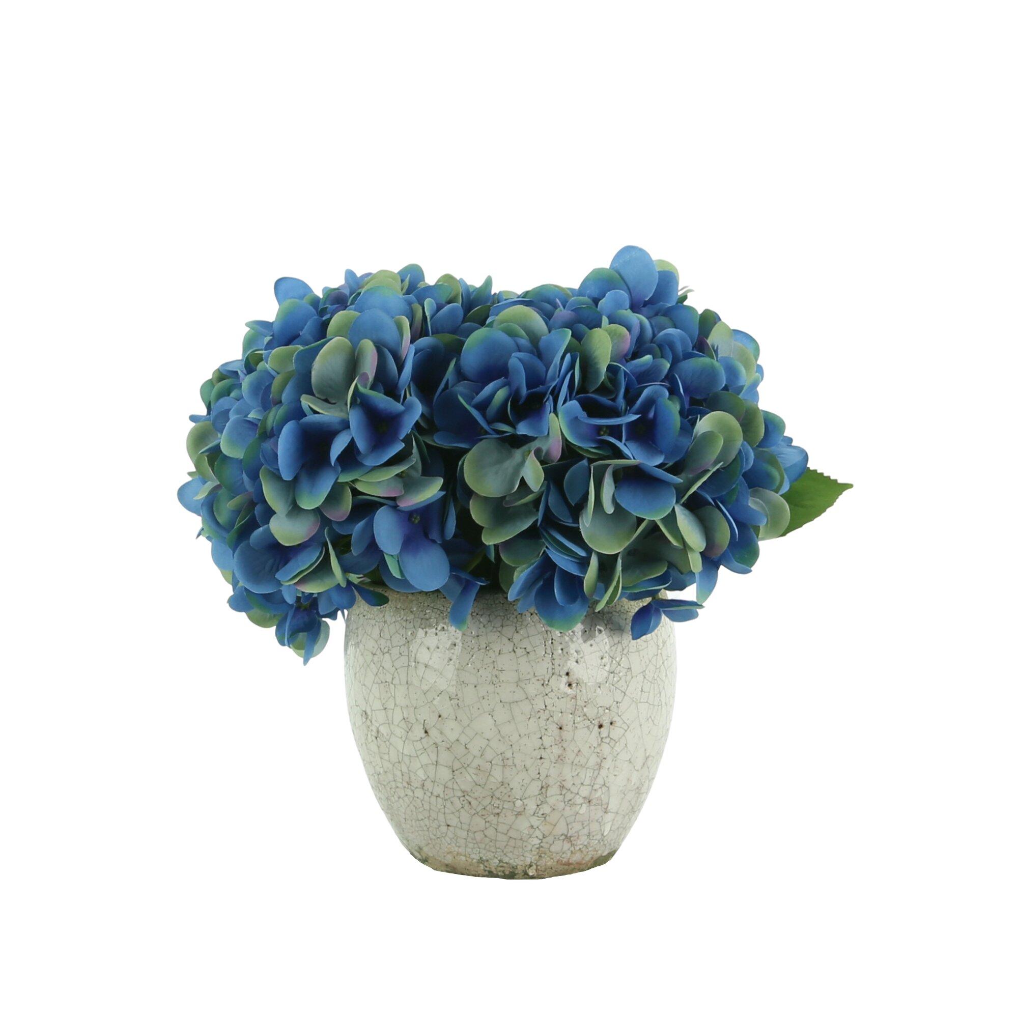 Primrue Hydrangea Centerpiece In Pot Wayfair