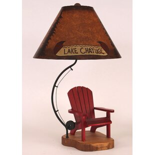 Rustic Living Fly Rod Adirondack Chair 27.5 Table Lamp