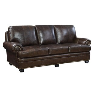 Hokku Designs Alamosa Transitional Leather Sofa