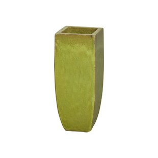 Square Tall Ceramic Pot Planter