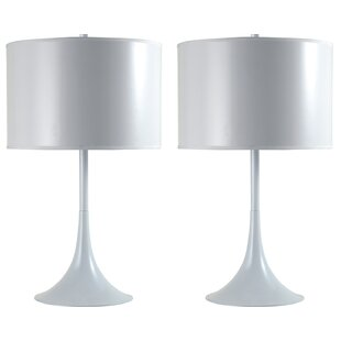 Sorensen Contemporary Trumpet Inspired 25 Table Lamp (Set of 2)