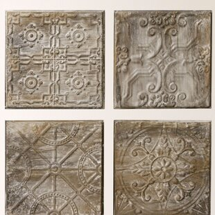 Kober 4 Piece Embossed Ceiling Tile