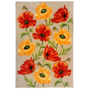 Carbonell Hand-Tufted Yellow/Red Indoor/Outdoor Area Rug