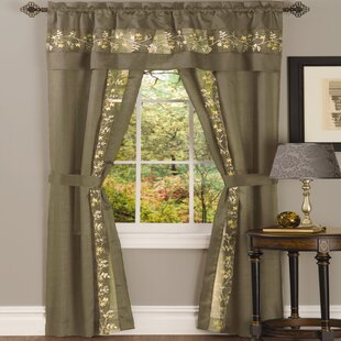 Shipley Solid Semi-Sheer Rod Pocket Curtain Panels (Set of 2) by Canora Grey