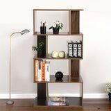 Dawnette Freestanding Decorative Storage Shelving Geometric Bookcase by Latitude Run®