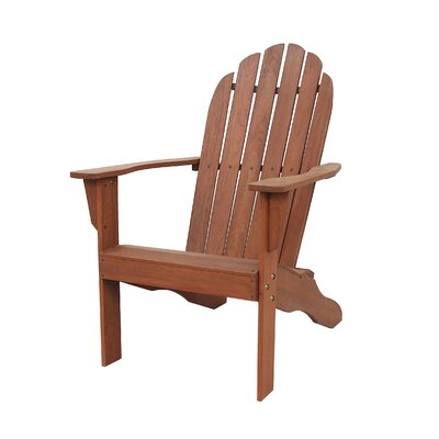 Fordyce Hardwood Adirondack Chair Color: Natural by Andover Mills