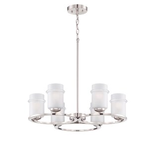 Designers Fountain Omega 6-Light Shaded Chandelier