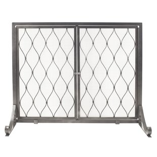 Stonewall Single Panel Steel Fireplace Screen by Pleasant Hearth