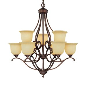 Fleur De Lis Living Beau 9-Light Shaded Chandelier