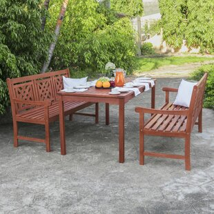 Stephenie 3 Piece Patio Dining Set by Lon..