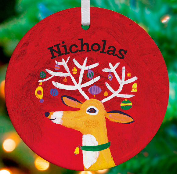 Reindeer Shaped Personalized Ornaments You Ll Love In 2021 Wayfair