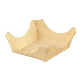 Woodsy Wood Appetizer Cradle Plate (Set of 12)