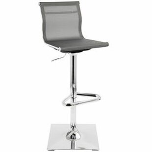 Cosmia Modern Mesh Adjustable Height Swivel Bar Stool (Set of 2) by Orren Ellis