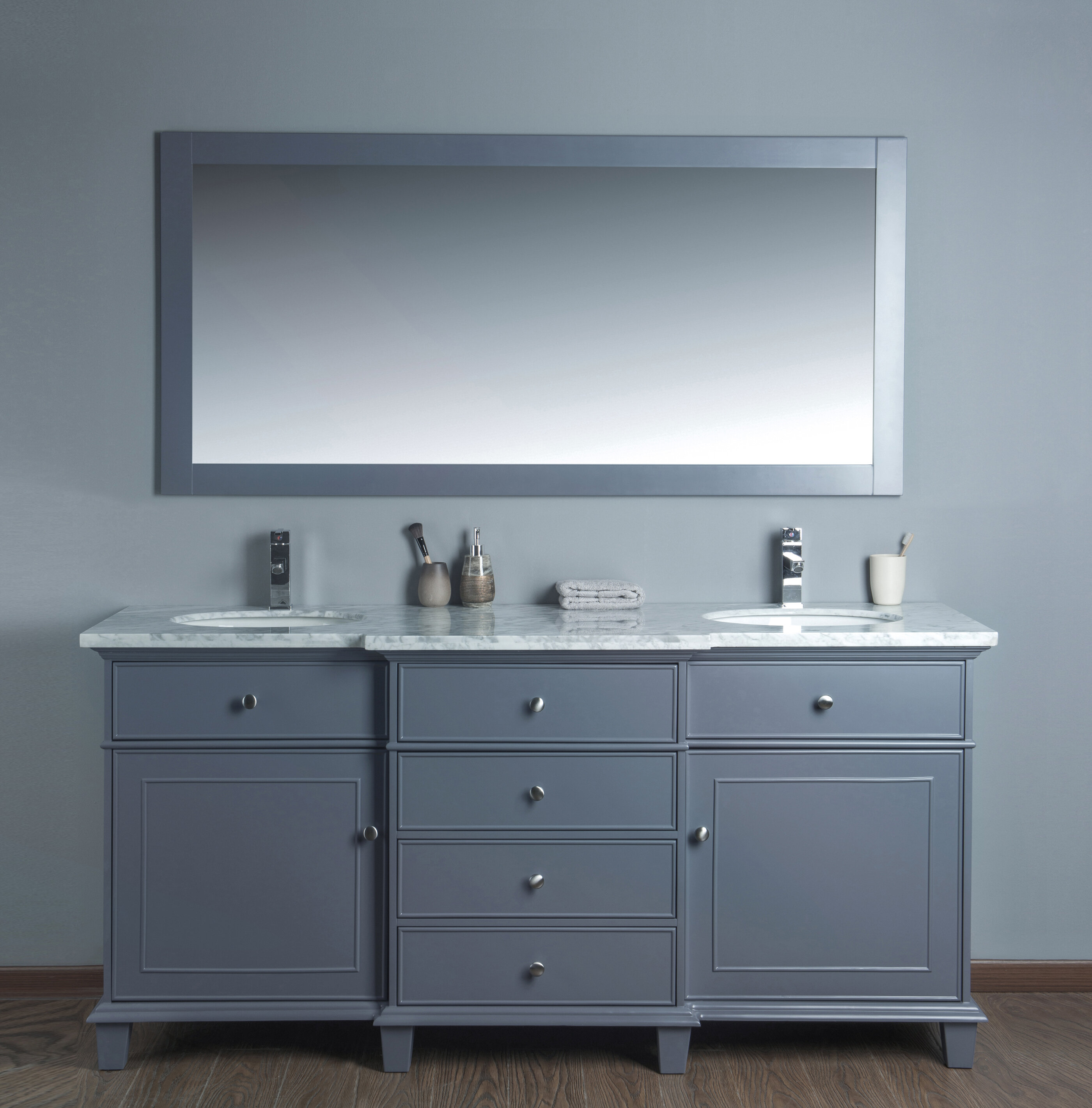 Birch Lane 72 Double Bathroom Vanity Set With Mirror Reviews