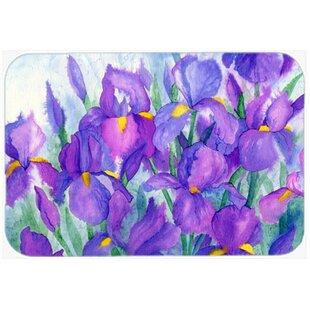 Purple Iris Glass Cutting Board