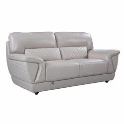 Latitude Run Kopervik 73 Wide Leather Match Pillow Top Arm Loveseat Wayfair