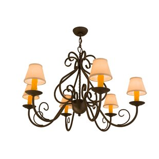 Meyda Tiffany Greenbriar Oak 6-Light Shaded Chandelier