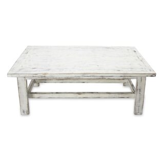 Forsman Yahualica Cloud Wood Coffee Table with Tray Top