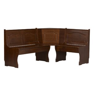 Patty Solid Wood Corner Corner Bench by August Grove