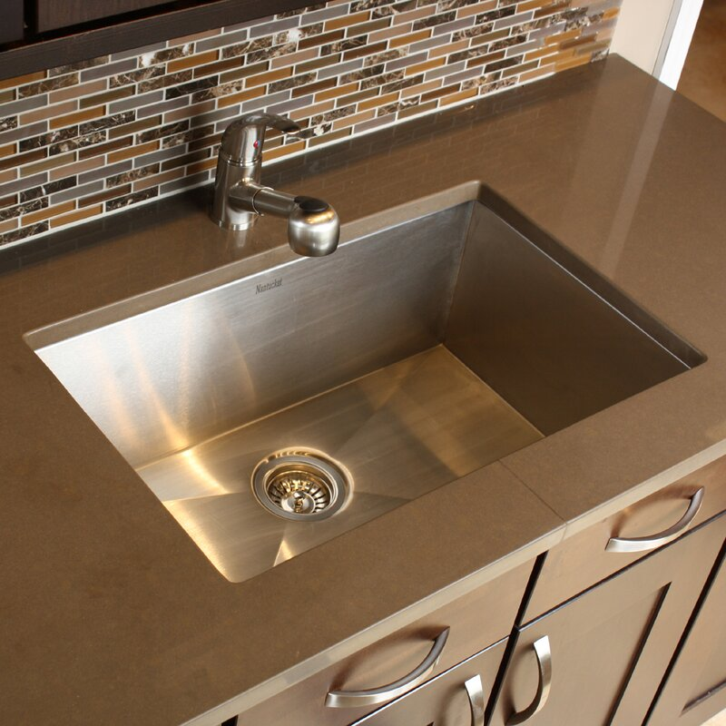 Nantucket Sinks Pro Series 28 L X 18 W Large Rectangle Stainless