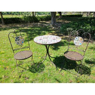 Meraz 3 Piece Bistro Set