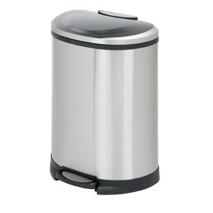 Honey Can Do Stainless Steel 13.2 Gallon Step On Trash Can