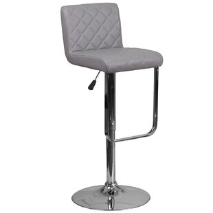 Novello Adjustable Height Swivel Bar Stool Orren Ellis