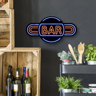Bar Sign Wall Light By Winston Porter
