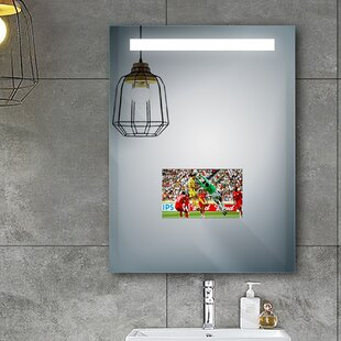 Compare prices Albertson LED Bathroom/Vanity Mirror By Orren Ellis