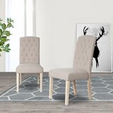 Lynch Linen Upholstery Parsons Chair (Set of 2) by One Allium Way®