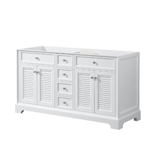 Best Reviews Tamara 60 Double Bathroom Vanity Base Only ByWyndham Collection