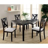 Boswick 5 - Piece Solid Wood Dining Set by Gracie Oaks