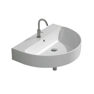 Normal Ceramic 24 Wall Mount Bathroom Sink with Overflow WS Bath Collections