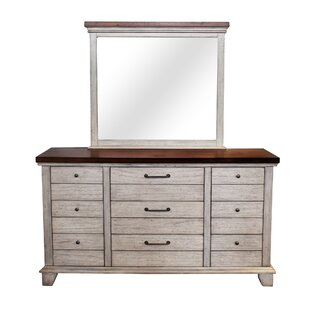 Onecre 9 Drawer Dresser with Mirror