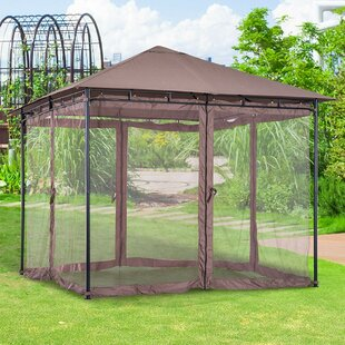 10 Ft. W X 10 Ft. D Outdoor Steel Patio Gazebo by Outsunny