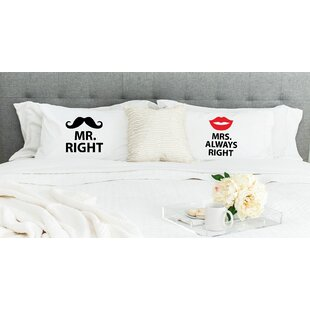 Mr Right and Mrs Always Right Pillowcases (Set of 2)