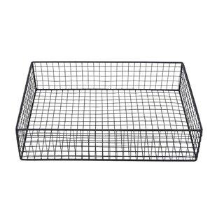Check Prices Mckinsey Spacious Wire Mesh Metal Basket By Williston Forge