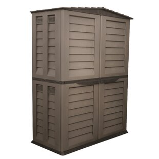 5 Ft. W X 3 Ft. D Plastic Vertical Tool Shed By Starplast